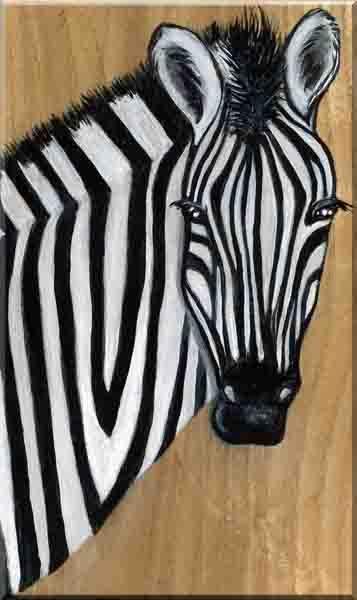The Zebra on Wood